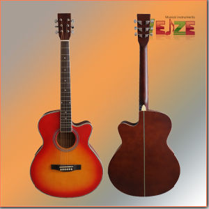 All Linden Plywood Folk Guitar with Beautiful Purfling pictures & photos