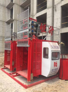 Double-Cage Construction Hoist for Sale by Hstowercrane pictures & photos