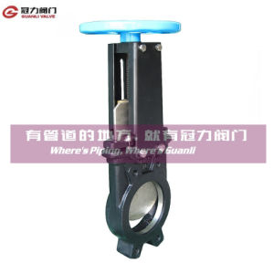 Non-Rising Stem Knife Gate Valve for Water Treatment Industry pictures & photos