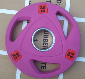 3 Holes Color Rubber Weight Plate (SA16-B) pictures & photos