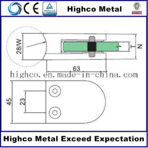 Glass Clamp for Stainless Steel Balustrade Handrail and Railing pictures & photos