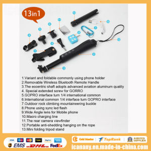 Multifunctional Universal All-in-One Selfie Kits Pack 13 in 1, Selfie Rod Rk88e Selfie Stick with Zoom pictures & photos