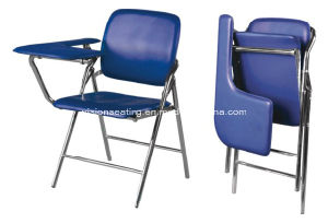Folding Stacking Classroom Student School Chair with Writing Tablet (7101) pictures & photos