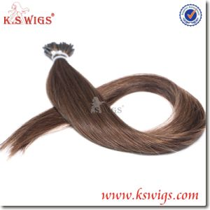 I-Tip Nail Keratin Hair Virgin Remy Indian Hair Extension pictures & photos