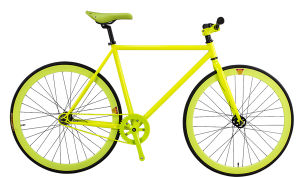 Top Quality 700c Shinning Yellow Single Speed Fixed Gear Bike for Lady (dg-fg-005)
