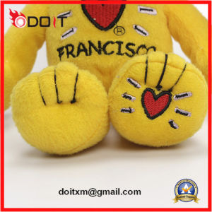 China Teddy Bear Manufacturer Yellow Teddy Bear with Embroidery Heart pictures & photos