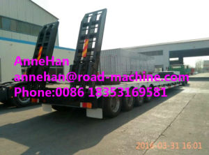 Cimc Heavy Duty Trailer Low Bed Semi Trailer 3 Fuwa Axles 50tons