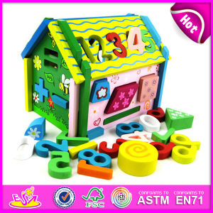 2014 Wooden Digital House Toy for Kids, Wooden Toy Digital House Toy for Children, Digital House Educational Toy for Baby W12D010 Factory pictures & photos