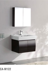 Modern Design Black Solid Wood Bathroom Cabinet pictures & photos