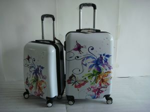 ABS Colorful Printing 4 Wheels Trolley Case Jb-D1002 pictures & photos