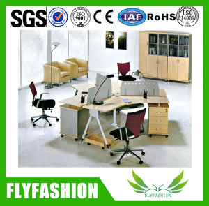 Aluminium Screen Simple Design Four Seats Office Desk (OD-74) pictures & photos