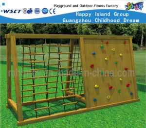 Outdoor Wooden Combination Climbing Fitness Equipment Hf-17606 pictures & photos