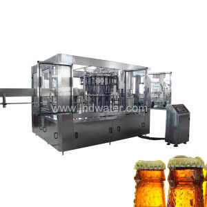 CE Standard Automatic Glass Bottle with Crown Cap Filling Machine pictures & photos