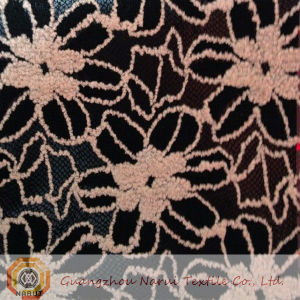 Black Nylon and Cotton Lace Fabric (M0433) pictures & photos
