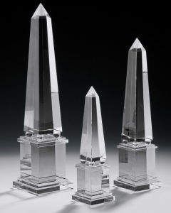 Hand-Crafted Solid Crystal Obelisks for Home Decoration (CA8241/42/43) pictures & photos