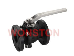 2PC Flanged Ball Valve with Mounting Pad ANSI 150lbs Composite Casting