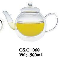 Clear Heat Resistant Borosilicate Glass Teapot with Infuser for Loose Tea or Display Tea pictures & photos