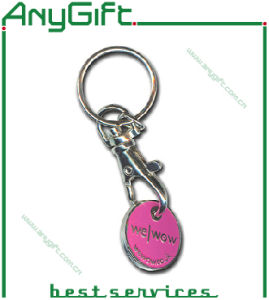 Metal Trolley Token Keyring with Customized Logo pictures & photos