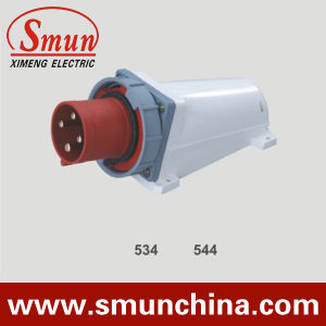 4pin 380V IP67 Wall Mounting Plug, 16A 125A PA66/ Nylon/ ABS Material pictures & photos