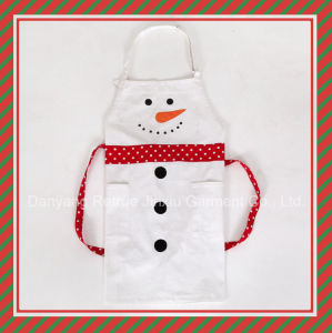 2015 New Cute Funny White Snowman Custom Bib Apron