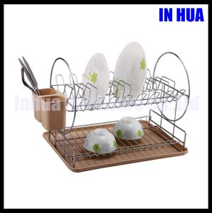 Manufacture Two Layers Chrome Plated with PVC Coated Dish Drying Rack
