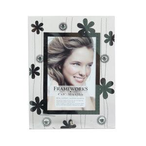 Glass Photo Frame with Diamonds /Diamond Photo Frame (diamond 1)