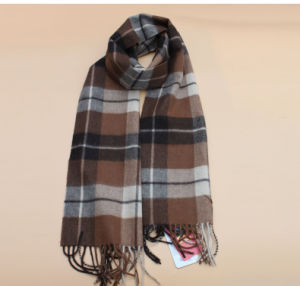 100% Yak Wool Lattice Scarves/Cashmere Fabric /Knitwear pictures & photos