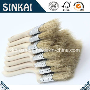 White Paint Brush with Natural White Bristle pictures & photos