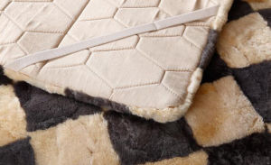 Long Wool Real Australian Sheepskin Fur Bed Blanket pictures & photos