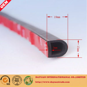 Small D Type Self Adhesive Rubber Seal Strip for Car pictures & photos