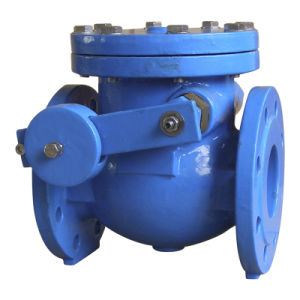 BS5163 Double Flange Swing Check Valve with Lever Weight, Pn10/Pn16 pictures & photos