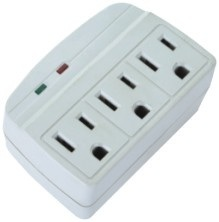 La-3s 3 Outlets Surge Protected Current Tap with Indicators