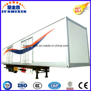 3 Fuwa Axle Box Shaped Van Type Semi Trailer/Truck Bulk Cargo Trailer pictures & photos