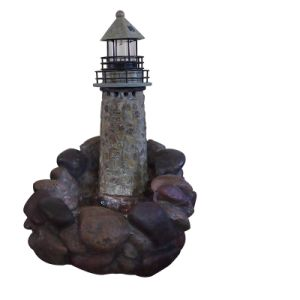 2 in 1 Resin & Stone Fountain with Lighthouse pictures & photos