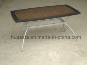 Simple Design Rattan Marble Outdoor Dining Table pictures & photos