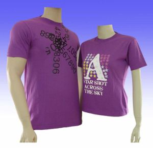 100% Cotton Couple T-Shirts pictures & photos
