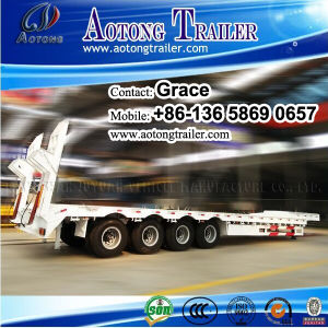 3 Axles Dump Truck Trailers and Low Bed Trailer 100 Ton pictures & photos