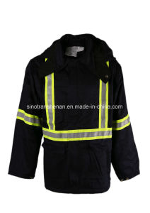 Fr Thermal Parka Flame Resistant Parka Winter with Reflective Tape pictures & photos
