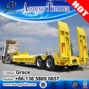2 Axles Low Bed Semi Trailer Use for Tractor Truck pictures & photos