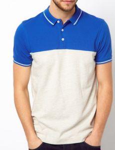 Custom Contrast Color Fabric Cotton Fashion Design_T Shirt