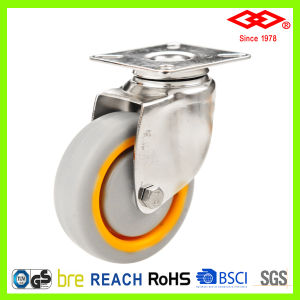 125mm Ball Bearing TPR Wheel Stainless Steel Castor (P114-34E125X30) pictures & photos