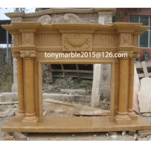 Column Surface Carved Marble Fireplace (SY-MF008) pictures & photos