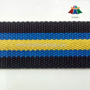 40mm Polyester Cotton Striped Webbing pictures & photos