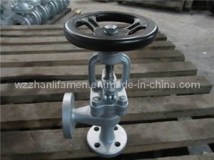 Stainless Steel 304/316 /Cast/Carbon Steel DIN Angle Type Globe Valve pictures & photos