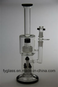 Hot Selling Glass Smoking Water Pipe with Honey Comb pictures & photos