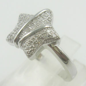 Star of David Micro Setting Fing Ring (RSGY5535-R)