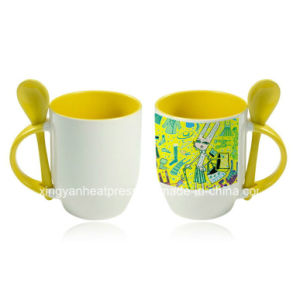 11oz Yellow Color Photo Mug with Spoon pictures & photos