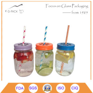 16oz Glass Mason Drinking Jar Without Handle pictures & photos