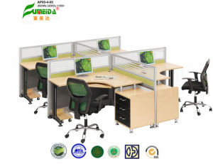 MFC Highe End Glass Screen Office Desk pictures & photos