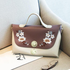 Flower Embroidery Women Handbag Hotsale Lady Tote Bags for Wholesale Sy8595 pictures & photos